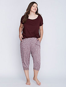 Marled Cropped Sleep Jogger