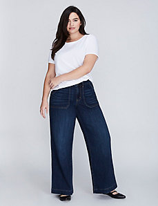 A-Line Trouser Jean with Patch Pockets