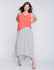 High-Low Maxi Skirt by C&C California