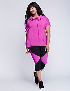 Short-Sleeve Seamed Active Pullover