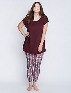 Short-Sleeve Tee & Legging PJ Set