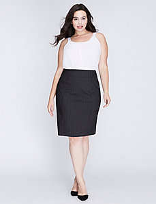 Sexy Stretch Striped Pencil Skirt