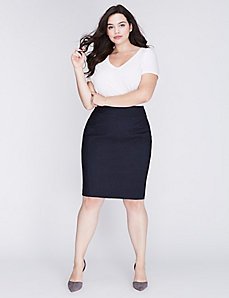 Sexy Stretch Faux-Denim Pencil Skirt