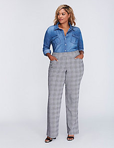 Ponte Glen Plaid Trouser