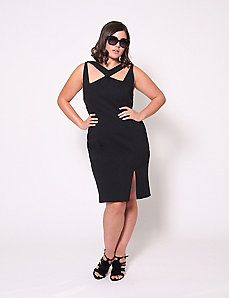 Cutout Ponte Dress by Christian Siriano