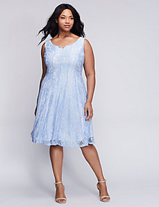 Lace Fit & Flare Dress by Gabby Skye