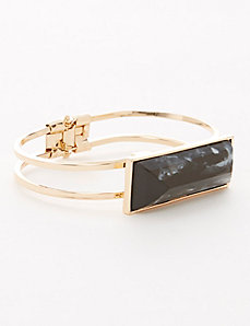 Black Stone Hinge Bracelet