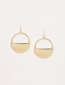 Solid Half-Circle Earrings