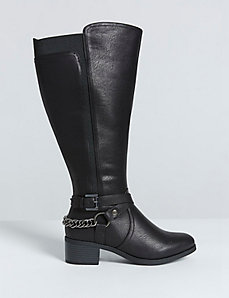Chain-Back Riding Boot