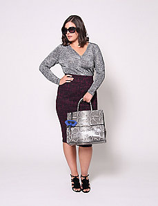 Boucle Pencil Skirt by Christian Siriano