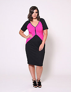 Colorblock Sheath Dress by Christian Siriano