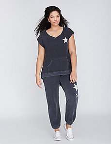 Sleeveless Pullover with Star Graphic by C&C California