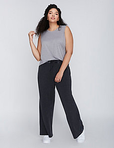 Wide-Leg Sweatpant by C&C California