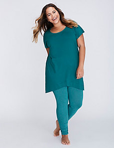 Wrapped-Hem Tee & Legging PJ Set