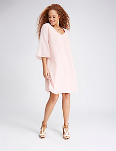 Bell Sleeve Trapeze Dress
