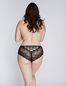Strappy-Back Lace Cheeky Panty
