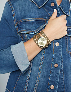 Studded Faux Wrap Watch