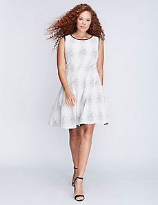 Textured Fit & Flare Dress by Julia Jordan
