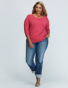 Cashmere Blend Sweater with Circle Hem