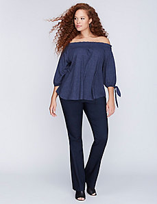 Sophie Sexy Stretch Faux-Denim Boot Pant