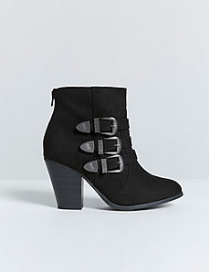 3-Buckle Western Ankle Boot