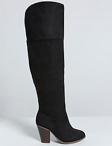 Block Heel Over-the-Knee Boot