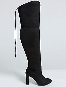 Over-the-Knee Faux Suede Boot