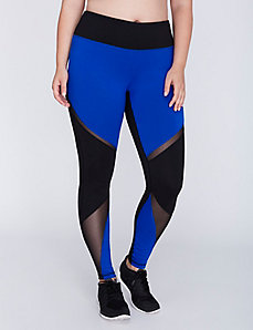 Wicking Active Legging with Mesh Insets
