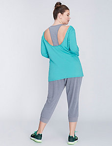 3/4-Sleeve Layered Active Top by Jessica Simpson