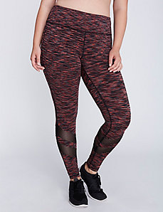 Wicking Spacedye Active Legging with Mesh