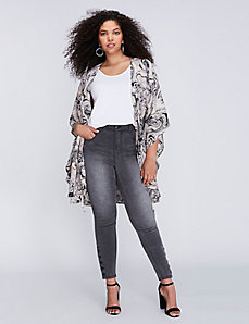 Button Detail Skinny Jean by Melissa McCarthy Seven7