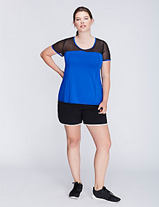 Cooling Mesh-Sleeve Active Tee