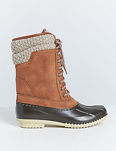 Snow Boot with Crochet