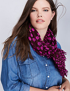 Double Dots Crinkle Scarf