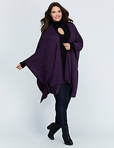 Grape & Black Chevron Wrap