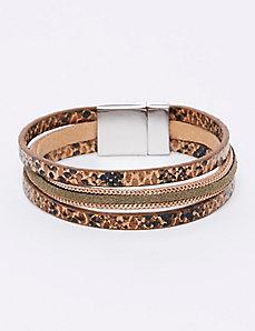 Olive & Animal Magnet Bracelet