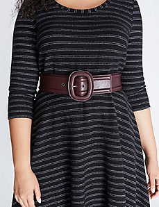 Covered Buckle Stretch Belt
