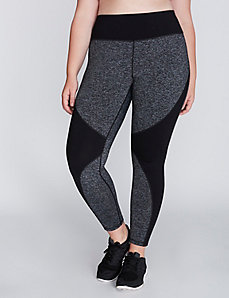 Marled Spliced Active Legging
