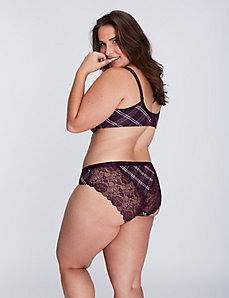 Dazzler Hipster Panty with Lace Back