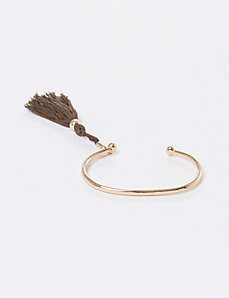 Open Bracelet with Tassel