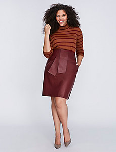 Tie-Waist Mixed Fabric Skirt by Melissa McCarthy Seven7