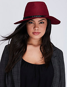 Hat with Beaded Trim