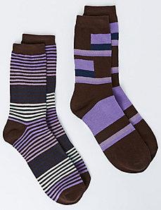 Colorblock Crew Socks 2-Pack
