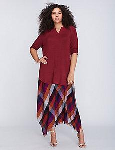 Fringe Tissue-Hem Skirt by Melissa McCarthy Seven7