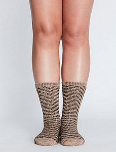 Chevron Boot Sock