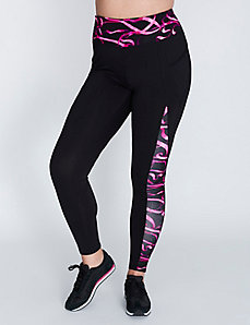 Wicking Spliced Active Legging with Pockets