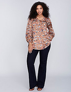 Pintuck Trouser Jean by Melissa McCarthy Seven7