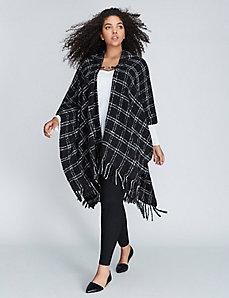 Plaid Hooded Kimono