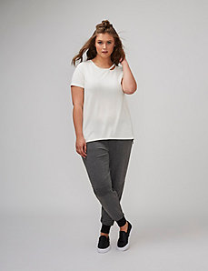 Tee with Cutout Neckline
