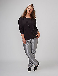 Distressed Sequin Sweatshirt